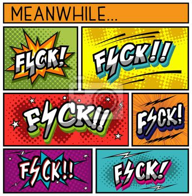 Obraz Comic Book Collection-FUCK