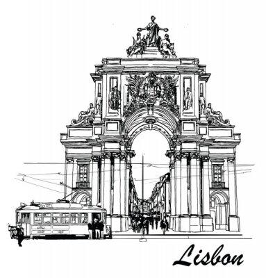 Obraz Commerce náměstí v Lisabonu