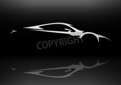 Obraz Concept Vehicle Sportscar Silhouette 06