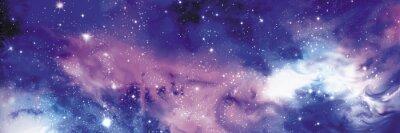 Obraz Cosmos banner s hvězdami