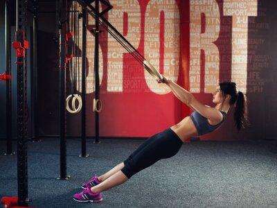 Obraz CrossFit cvičení na kroužku