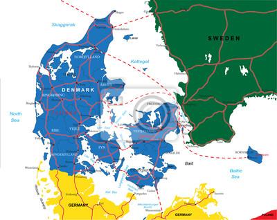 Dánsko mapa