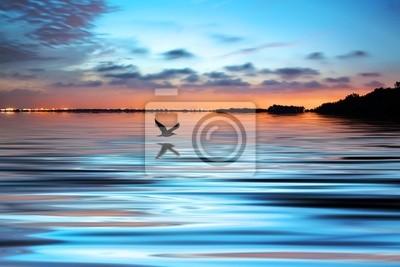Obraz de noche en el lago