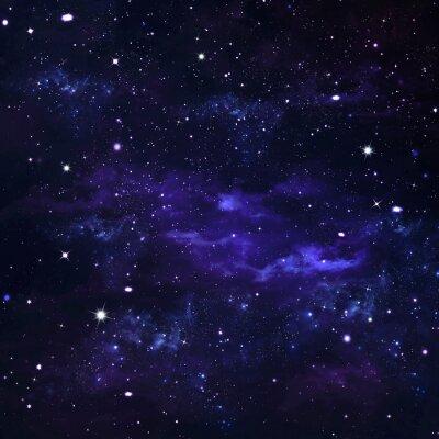 Obraz Deep Space, abstraktní modré pozadí