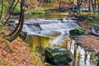 Obraz Deer Lick Creek Waterfall