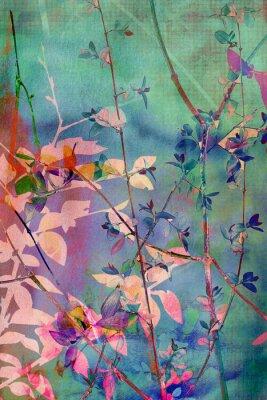 Obraz Dekorativní grunge pozadí s přírodními listy