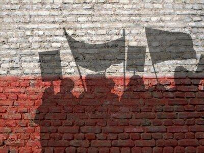 Obraz Demonstrace v Polsku