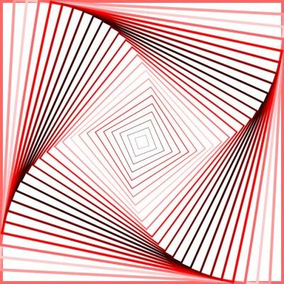 Obraz Design colorful twirl movement illusion background