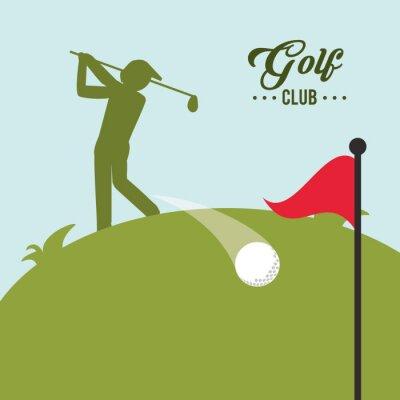 Obraz Design Golf ikona