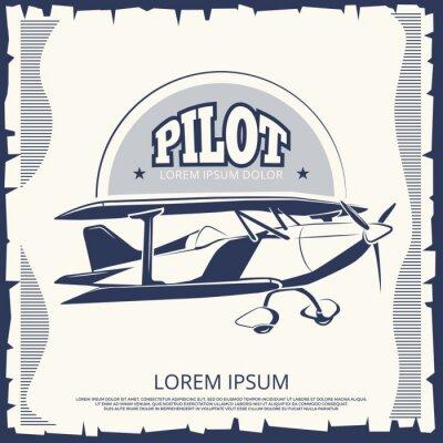 Obraz Design štítků - letouny letounů letounů
