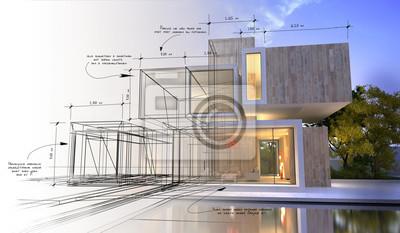 Obraz Designové etapy luxusní vily