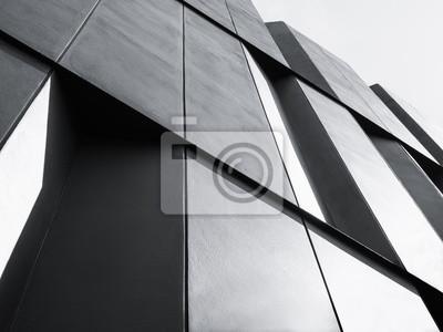 Obraz detail architektura Fasádní konstrukce Moderní budova Black and White