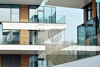 Obraz Detail nového moderního činžovního domu
