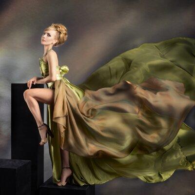 Obraz Detailní módní portrét mladé krásné ženy