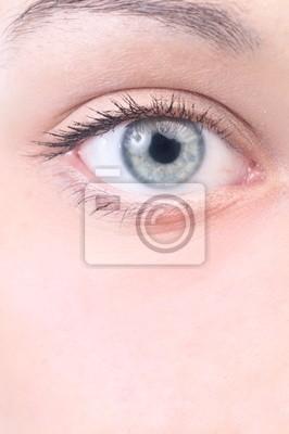 Detailní pohled na krásné ženské oko
