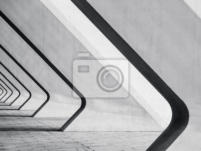 Obraz Detaily architektury Moderní budova Betonová zkreslení sloupců prostorový pohled Abstraktní pozadí