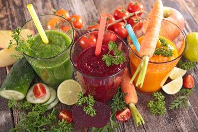 Obraz detox zeleninové šťávy