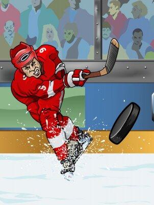 Obraz Detroit lední hokejista.