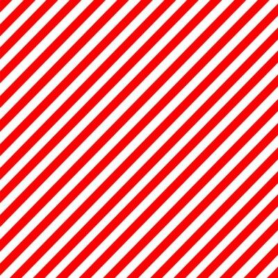 Obraz Diagonální pruh červeno-bílý vzor vektor