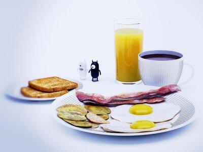 Obraz Diavoli alieni a colazione 3d vykreslování