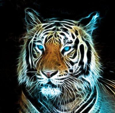 Obraz Digitální kresba tygra