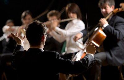 Obraz Dirigent řídí symfonický orchestr