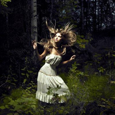 Obraz Dívka v pohádkovém lese