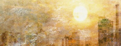 Obraz Dojem City Sun