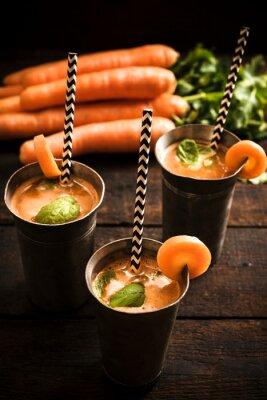 Obraz Domácí mrkvové šťávy