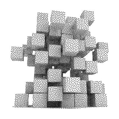 Obraz Dotwork polotóny Vektorové boxy Icon