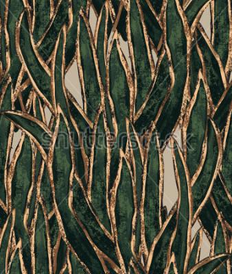 Obraz drahé malované mořské řasy tapety. exotické trávy akceptové vzorky. barevné ilustrace pro textilní a povrchový design