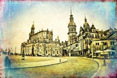 Obraz Dresden vinobraní ilustrační