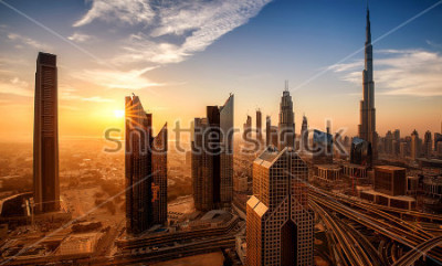 Obraz Dubaj při východu slunce