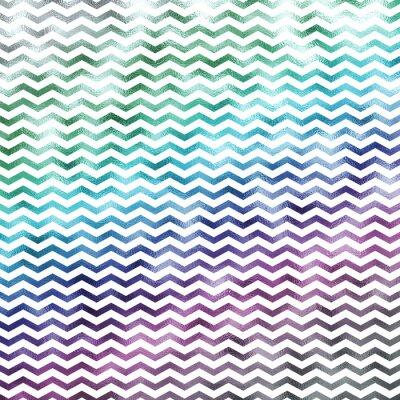 Obraz Duha White Metallic Faux fólie Chevron vzor krokve textury