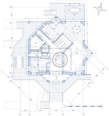 dům plán: vector blueprint