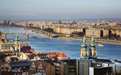 Obraz Dunaj v Budapešti. Maďarsko