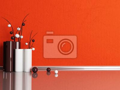 dva moderní vázy v pokoji