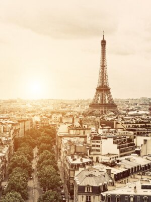 Obraz Eiffel od Vítězného oblouku