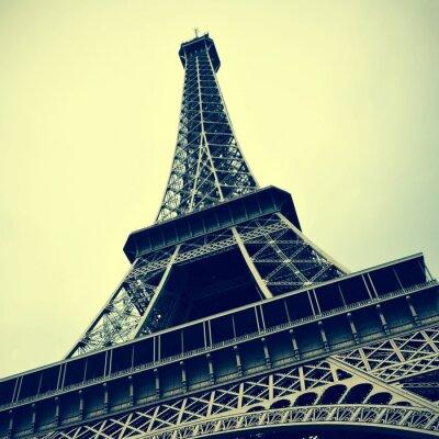 Obraz Eiffelova věž v Paříži, Francie s retro efekt