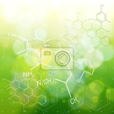 ekologie pozadí: chemické vzorce