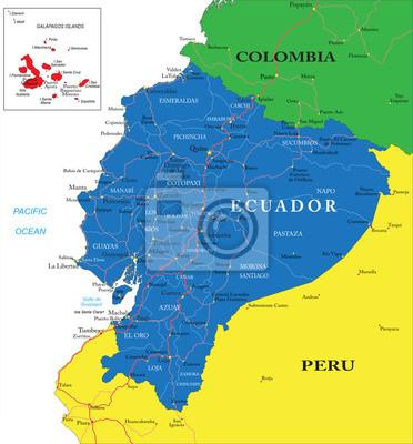 Ekvádor mapa