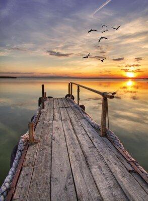 Obraz el Embarcadero de madera