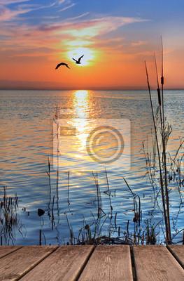 Obraz el lago Cuando amanece