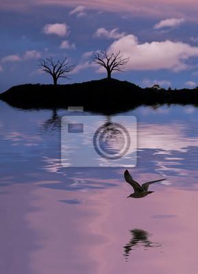 Obraz el lago de los Muertos arboles