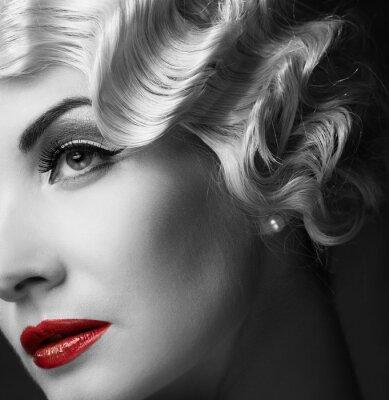 Obraz Elegantní blond retro žena