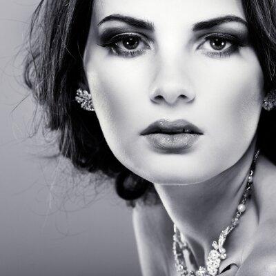 Obraz Elegantní dívka je v módní styl. Svatební dekorace