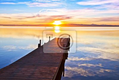 Obraz Embarcadero apuntando al sol