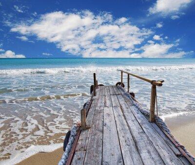 Obraz Embarcadero de madera en la playa