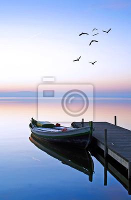 Obraz en el lago azul