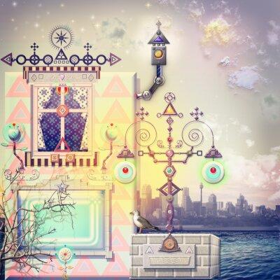 Obraz Enchanted dům v přístavu